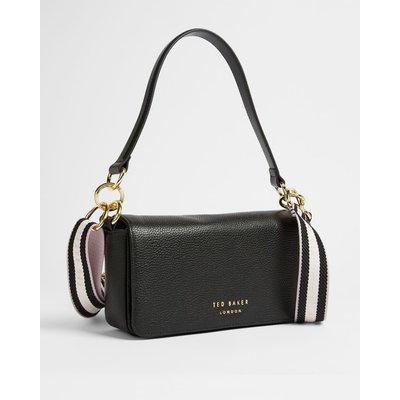 Branded Webbing Strap Box Shoulder Bag