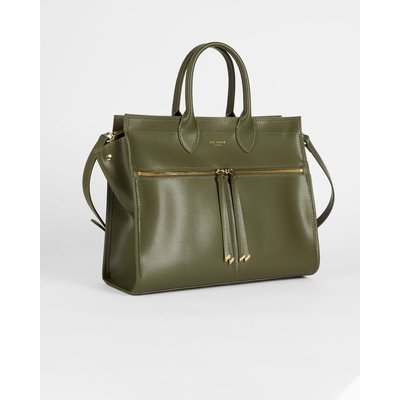 Zip Detail Large Tote Bag