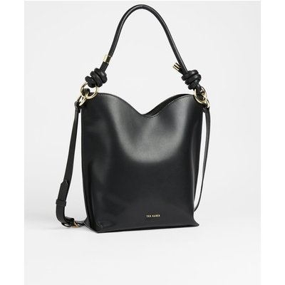 Knotted Leather Shopper Bag