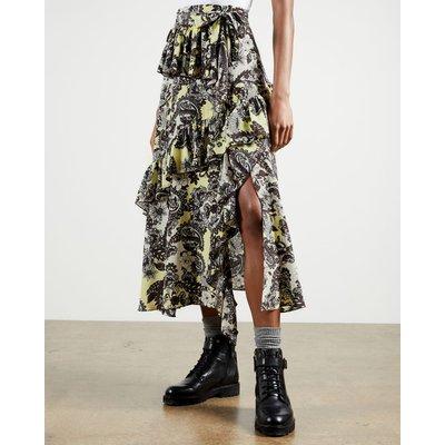 Paisley Printed Midi Skirt