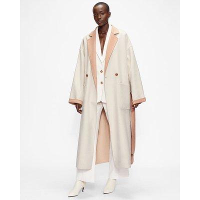 Flood Length Double Faced Wool Coat