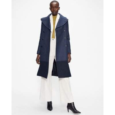 Long Pea Coat With Oversized Collar