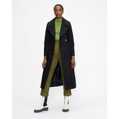 Wool Coat With Oversized Collar