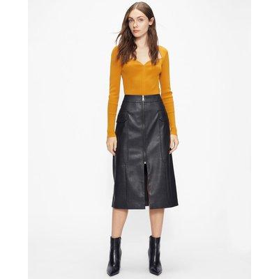 Pu Utility Pencil Skirt