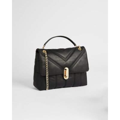 Puffer Quilted Leather Crossbody Bag