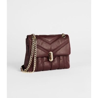 Leather Quilted Mini Crossbody Bag