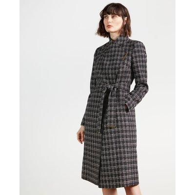 Check Bouclé Coat