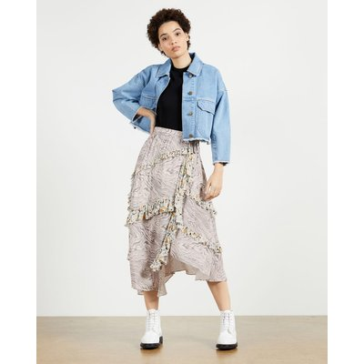 Tiered Skirt With Side Split