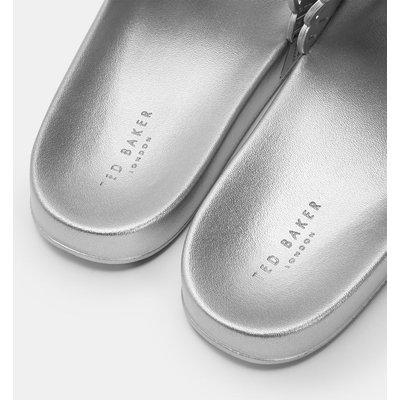 TED BAKER Lasergeschnittene Metallic-slipper