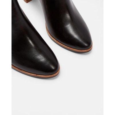 TED BAKER Ankle Boots Aus Leder Mit Schleife