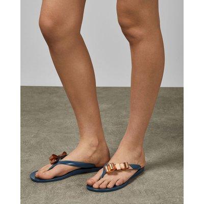 TED BAKER Bow Detail Jelly Flip Flops