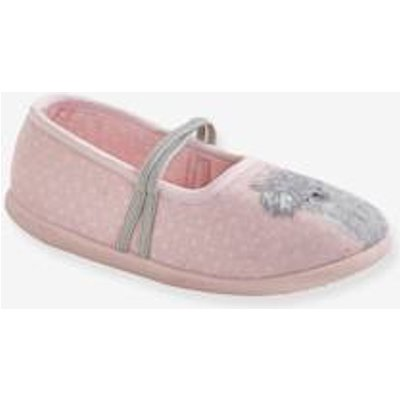 Ballet Pump Canvas Shoes for Girls pink light solid with design