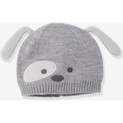 Stylish Beanie for Baby Boys grey medium solid