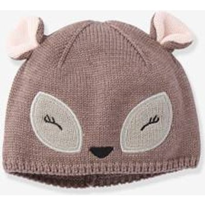 Stylish Beanie, for Baby Girls brown dark mixed color