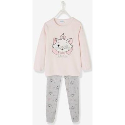 Disney Aristocats® Pyjamas, in Velour, for Girls pink light solid with design