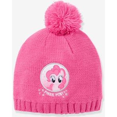 Girls' My Little Pony® Beanie with Pompoms purple medium solid with desig