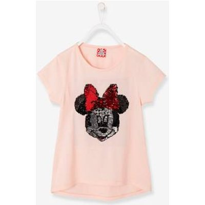 Girls' Minnie® T-Shirt with Reversible Sequins pink light solid with design