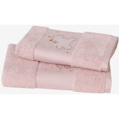 Unicorn Bath Towel pink light solid with design