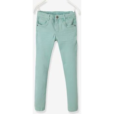 LARGE Fit, Girls' Slim Fit Trousers green light solid