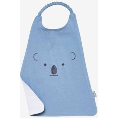 XXL Bib, Embroidered Animals blue medium solid with design
