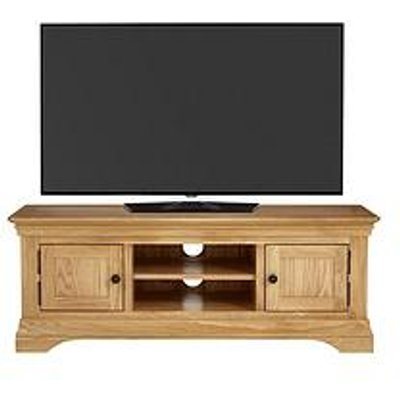 Luxe Collection Constance Oak Ready Assembled Large Tv Unit - Fits Up To 60 Inch Tv