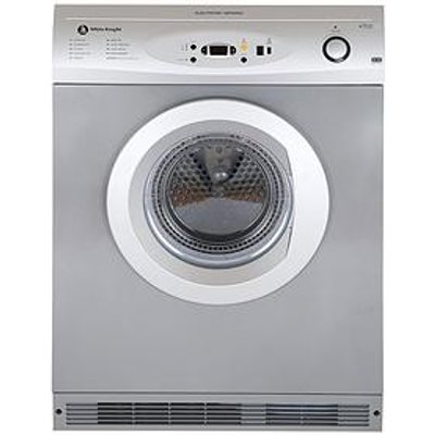 White Knight C86A7S 7Kg Load Vented Sensor Dryer - Silver