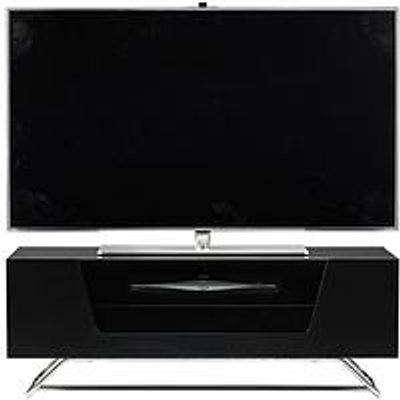 Alphason Chromium Tv Stand - Fits Up To 50 Inch Tv - Black