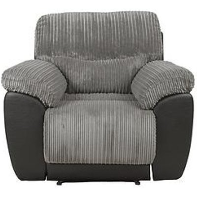 Sienna Fabric/Faux Leather Recliner Armchair