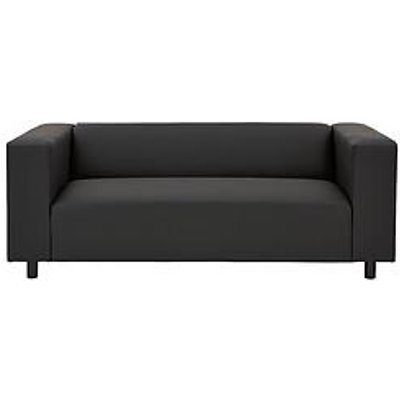 Clarke Faux Leather 3-Seater Sofa