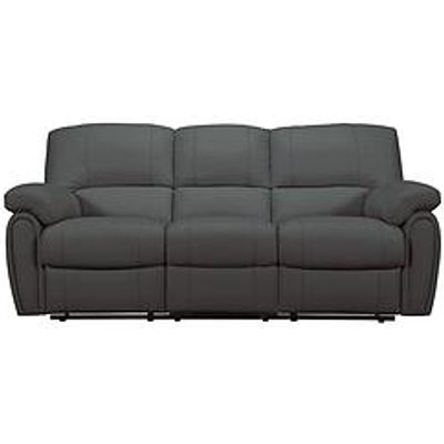 Leighton Leather/Faux Leather 3 Seater Recliner Sofa