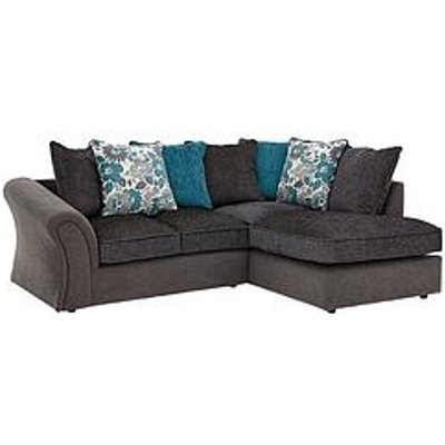 Celina Right Hand Compact Corner Chaise Sofa