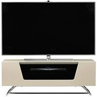 Alphason Chromium Tv Stand - Fits Up To 46 Inch Tv - Ivory