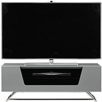 Alphason Chromium Tv Stand - Fits Up To 46 Inch Tv - Grey