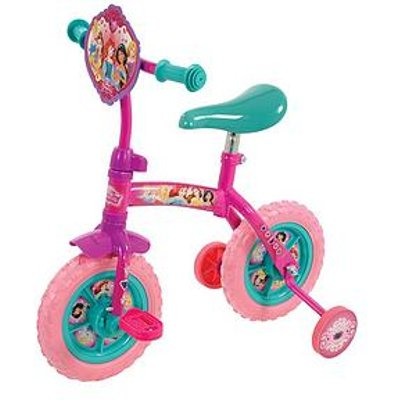 Disney Princess 2-In-1 10 Inch Training Bike With Tassels