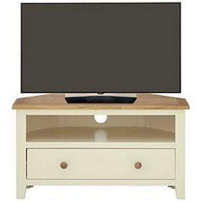 Luxe Collection - London Painted Ready Assembled Corner Tv Unit - Fits Up To 40 Inch Tv