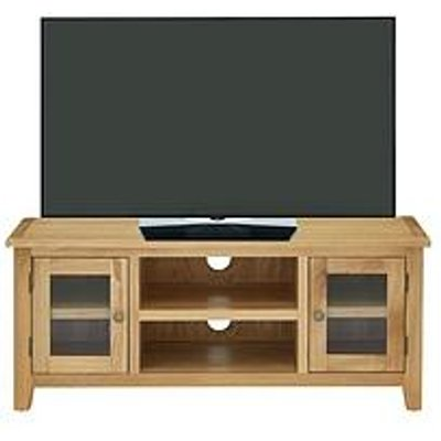 Luxe Collection - London Oak Ready Assembled Tv Unit - Fits Up To 50 Inch Tv