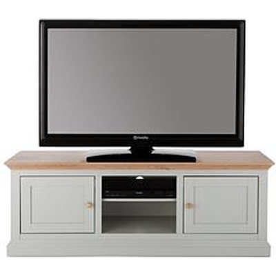 Hannah Wide Tv Unit - Sage/Oak-Effect - Fits Up To 70 Inch Tv