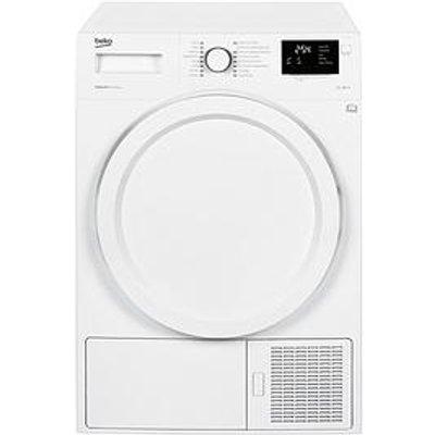 Beko Dhy7340W 7Kg Condenser Dryer With Heat Pump - White