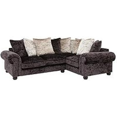Laurence Llewelyn-Bowen Scarpa Right-Hand Double Arm Fabric Scatter Back Corner Group Sofa