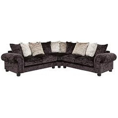 Laurence Llewelyn-Bowen Scarpa Large Fabric Scatter Back Corner Group Sofa