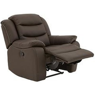 Rothbury Luxury Faux Leather Manual Recliner Armchair