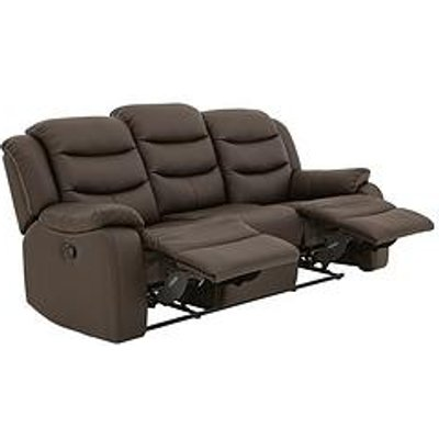 Rothbury Luxury Faux Leather 3-Seater Manual Recliner Sofa