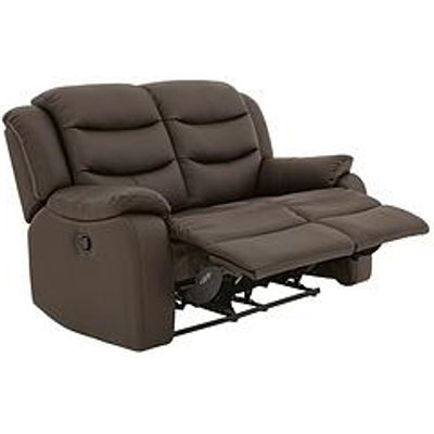 Rothbury Luxury Faux Leather 2-Seater Manual Recliner Sofa