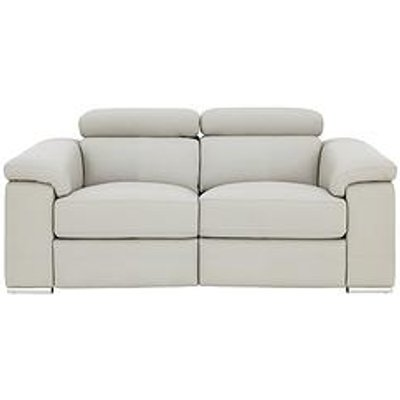 Stockton Premium Leather 2-Seater Power Recliner Sofa