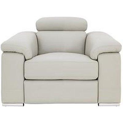 Stockton Premium Leather Power Recliner Armchair