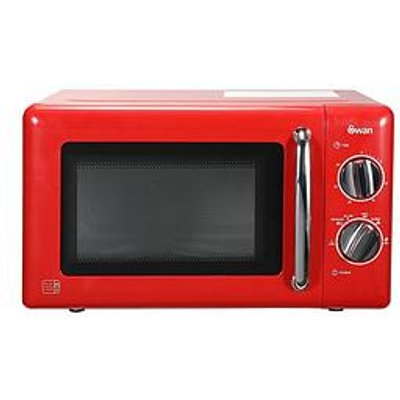 Swan Sm22080R 20-Litre Manual Microwave - Red