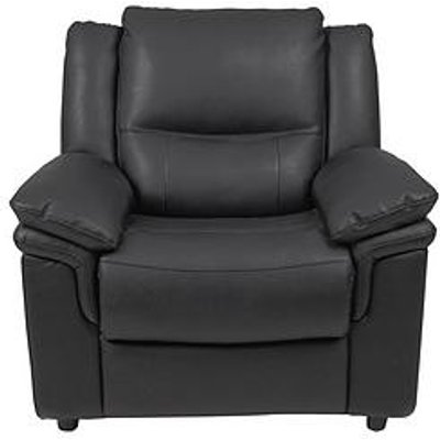 Albion Luxury Faux Leather Armchair