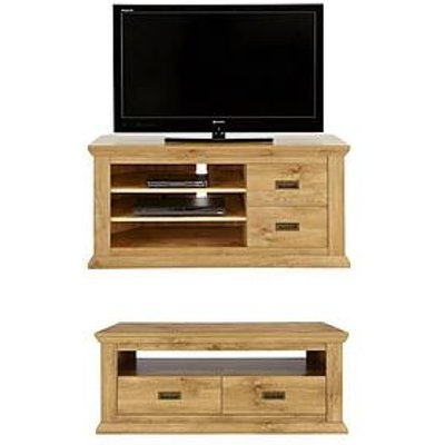 Clifton 2-Piece Package - Coffee Table And Corner Tv Unit (Buy And Save!)