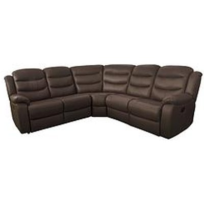 Rothbury Luxury Faux Leather Manual Recliner Corner Group Sofa