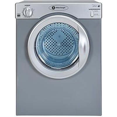 White Knight C39As 3.5Kg Compact Vented Freestanding Tumble Dryer - Silver